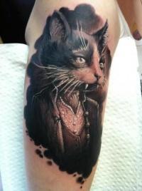Portrait of a cat tattoo